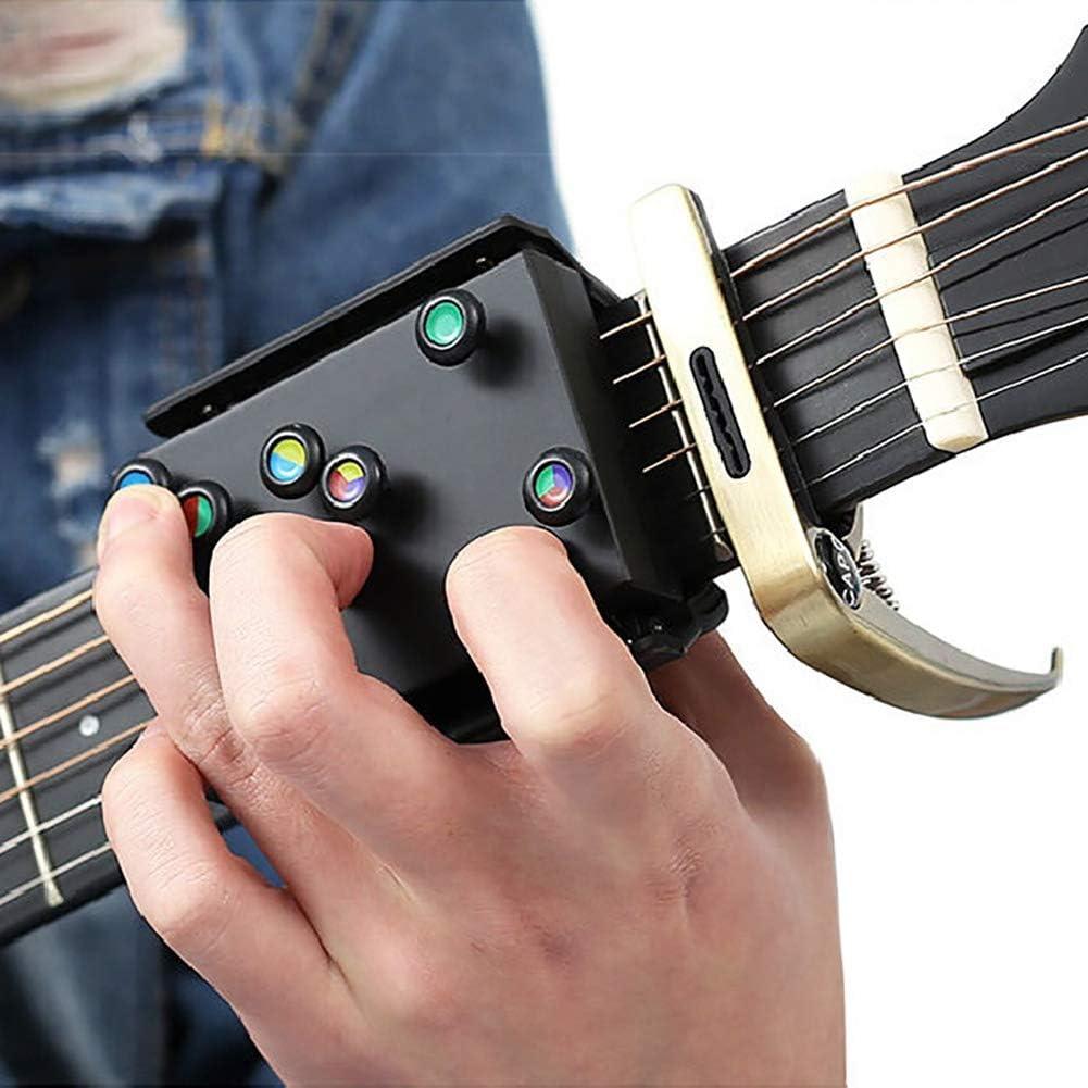 21 Acordes de guitarra Sistema de aprendizaje de ayuda para la enseñanza para principiantes Instructor de guitarra Práctica Accesorios para guitarra acústica Asistente de acordes 1 PCS