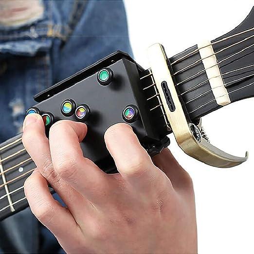 21 Acordes de guitarra Sistema de aprendizaje de ayuda para la enseñanza para principiantes Instructor de guitarra Práctica Accesorios para guitarra acústica Asistente de acordes 1 PCS: Amazon.es: Hogar