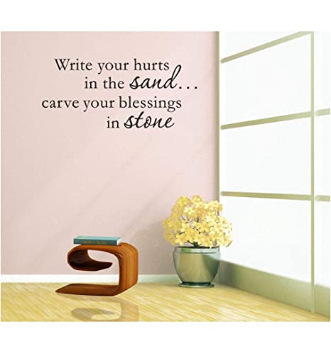 Homemay PVC Wall Stickers Good inglese frase di scrivere in vetro ...