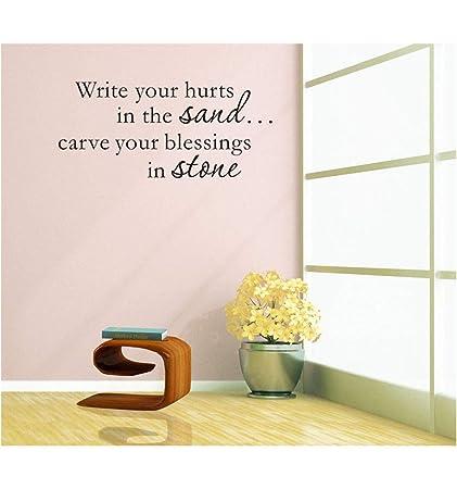 Homemay PVC Wall Stickers Good inglese frase di scrivere in vetro ...