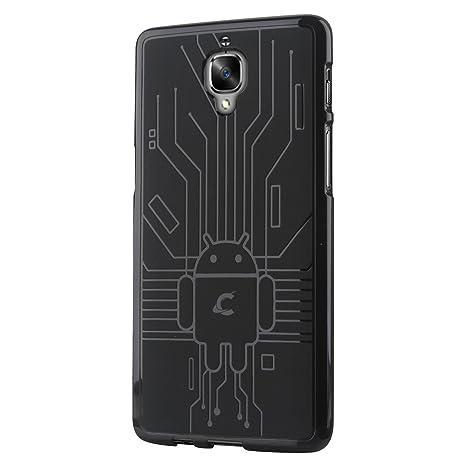 CruzerLite OnePlus 3/3T caso, cruzerlite Bugdroid Circuit – Carcasa de TPU para OnePlus tres/OnePlus 3/3T – empaquetado al por menor – Negro