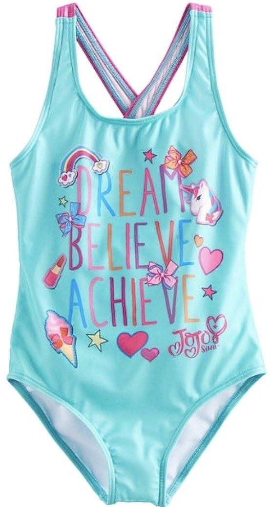 JoJo Siwa Girls Swimsuit 5//6 One Piece Dream Believe Achieve