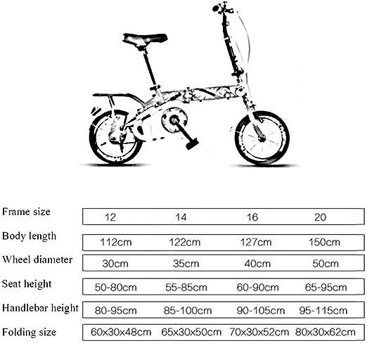 TD Bicicleta para Niños Plegable Bicicleta Adulto Bicicleta Niña ...