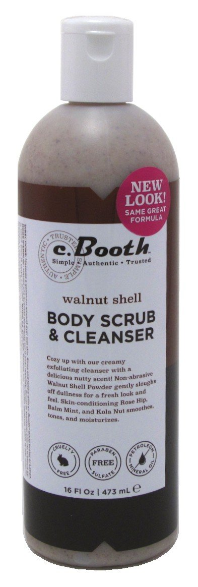 c.Booth Walnut Shell Body Scrub and Cleanser, 473 Milliliters 80105