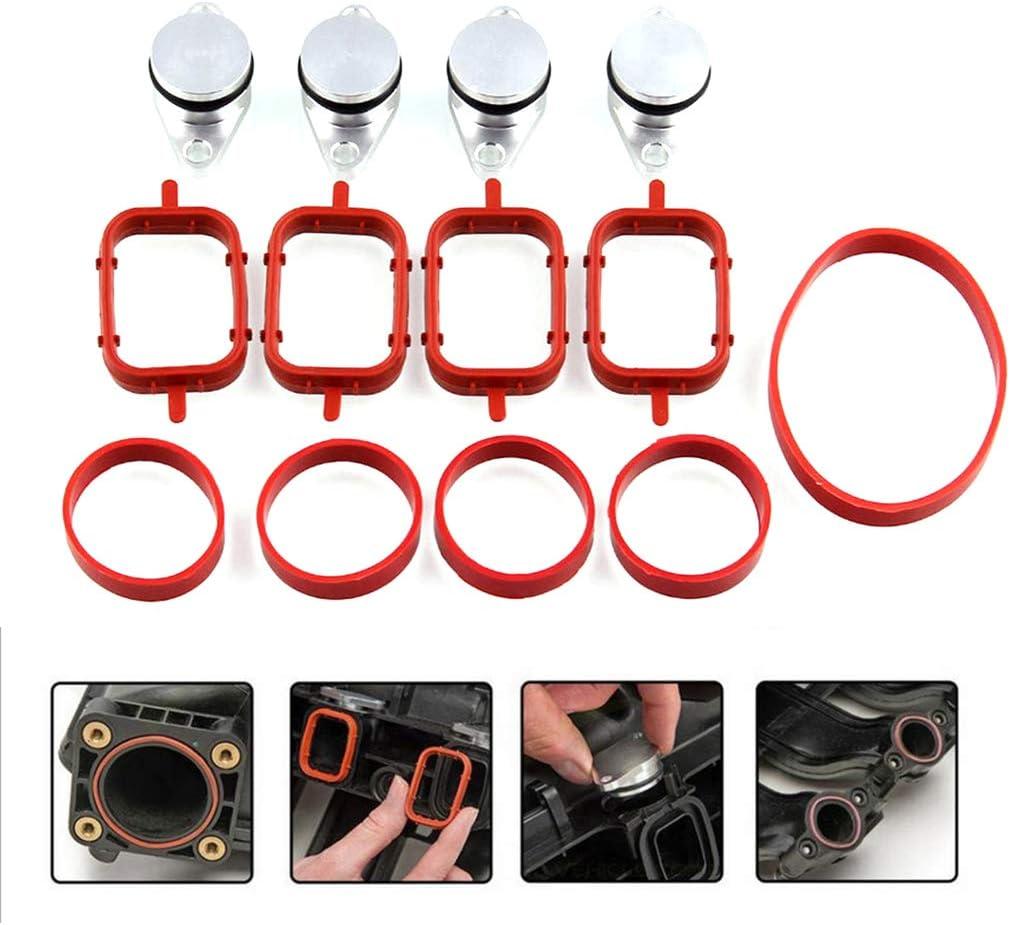 BIlinli 4 Juntas de colector de Aleta de Remolino di/ésel de 22 mm para BMW E87 E46 E60 E61 320d 520d 530d