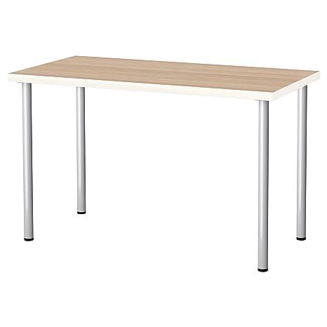 Tavolo Scrivania Ikea.Ikea Linnmon Adils Tavolo Scrivania Ufficio Bianco Effetto