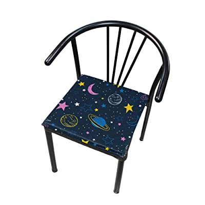 "Bardic HNTGHX Outdoor/Indoor Chair Cushion Space Planet Star Square Memory Foam Seat Pads Cushion for Patio Dining, 16"" x 16"": Home & Kitchen"