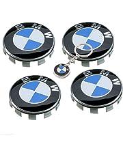 BMW Coprimozzo 68mm Portachiavi Omaggio,per Cerchi in Lega,Tappi Logo Serie 1 2 3 4 5 6 7 8 x1 X3 X4 X5 X6 Z3 Z4