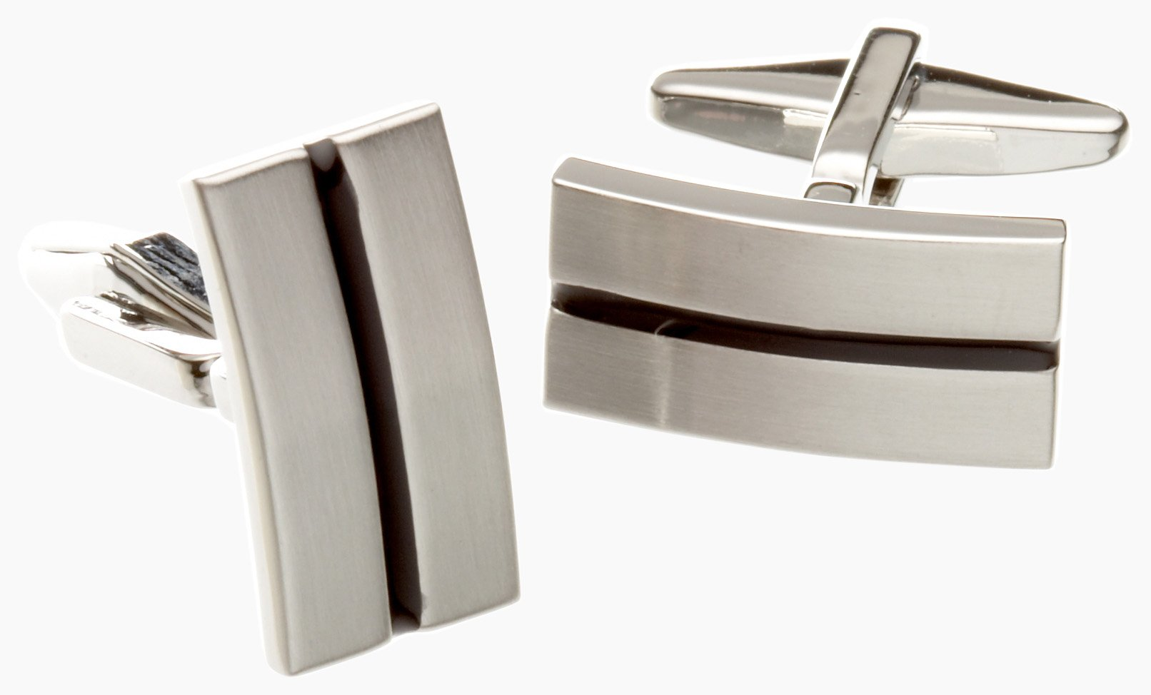 Kenneth Cole REACTION Men's Cufflinks, Silver, One Size