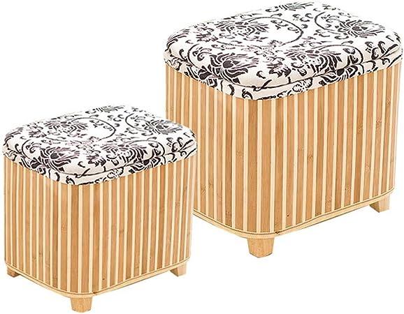 Taburete de Almacenamiento bambú Multifunción Foyer Can Sit Man Long Square Caja de Almacenamiento Sofá para el hogar Cambio de Banco de Zapatos Dos LCSHAN (Color : Vertical Stripes.): Amazon.es: Hogar