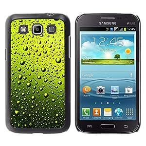 // PHONE CASE GIFT // Duro Estuche protector PC Cáscara Plástico Carcasa Funda Hard Protective Case for Samsung Galaxy Win I8550 / GREEN WATER DROPS BEER /
