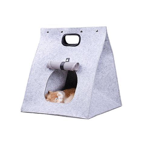 Gato Cuna Gato Cesta gato Cesta Dormir plegable Lavado Bar Animales caja de transporte Saco de ...