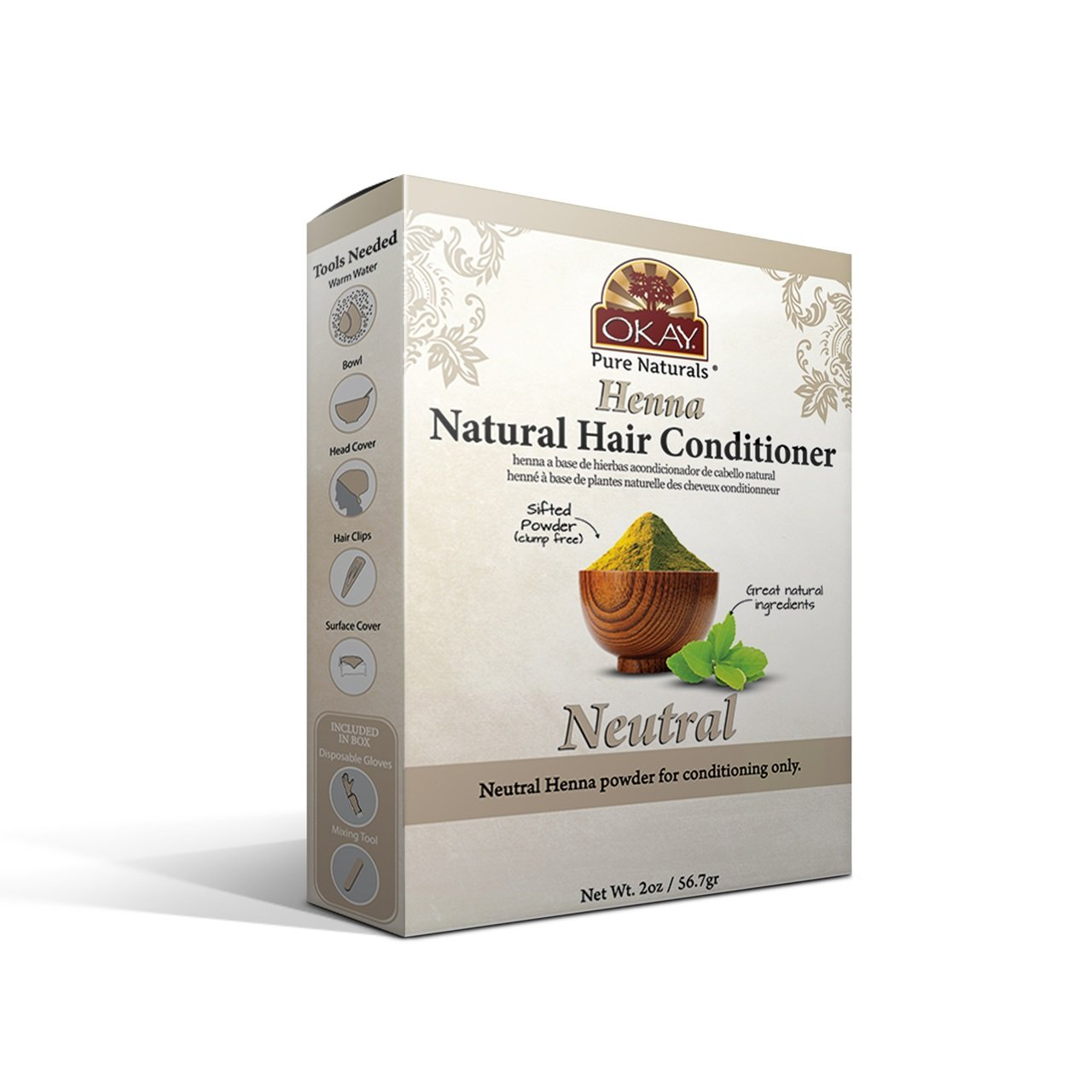 OKAY Herbal henna color neutral henna 50gr Xtreme Beauty International OKAY-HHNEUT2