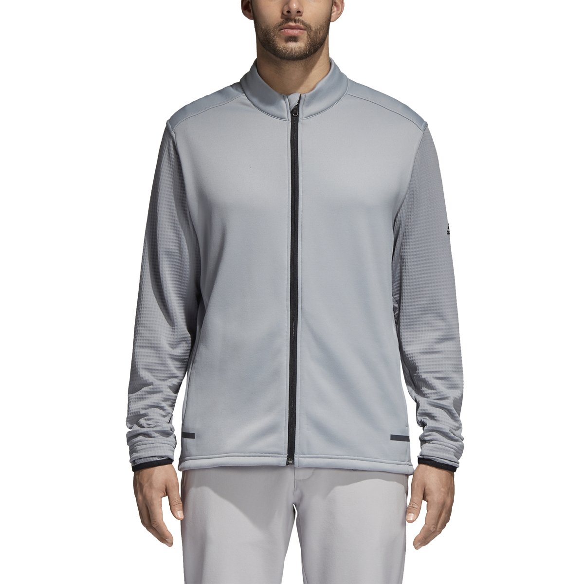 adidas Golf Men's Golf Climaheat Hybrid Full Zip Jacket, Mid Grey, Large by adidas