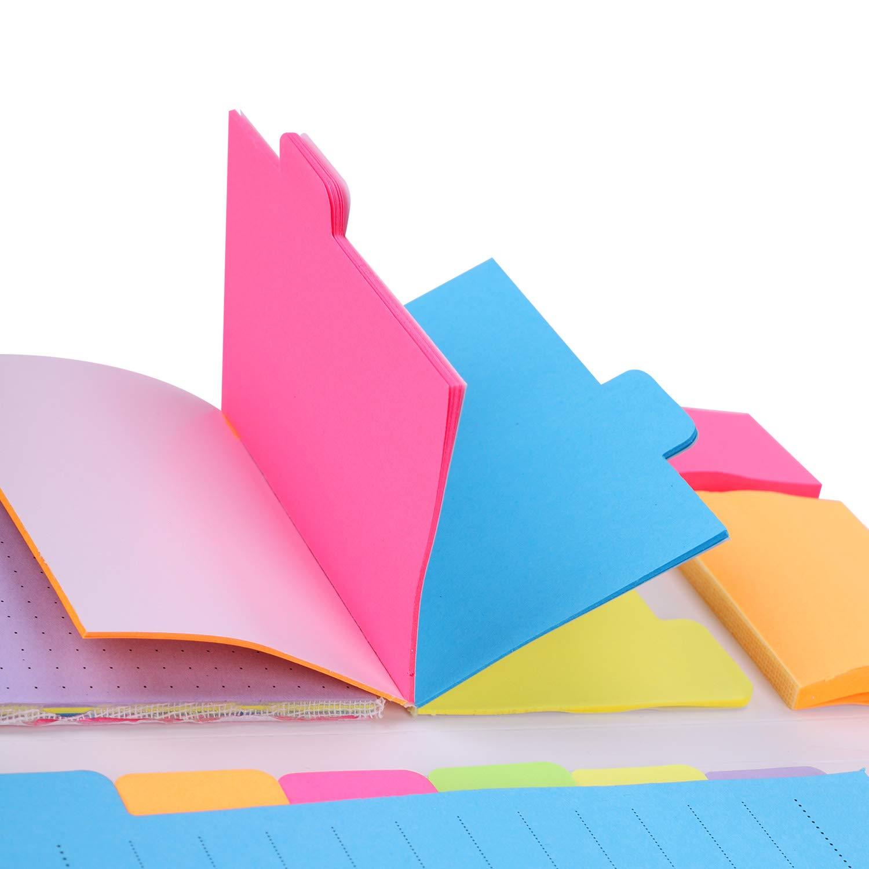 blocchetti di foglietti bianchi,blocchetti di fogli,etichette adesive per fogli,etichette adesive e segnalibro,402 fogli Set divisori adesivi,blocchetti di foglietti adesivi,segnalibri,segnalibro