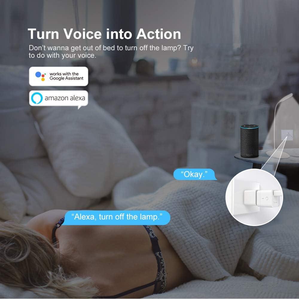 control remoto de la aplicaci/ón compatible con Alexa//Google Home control por voz interruptor inteligente para dispositivos USB Type A SONOFF Micro mini 5V adaptador USB Wi-Fi inteligente