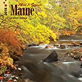 Maine, Wild & Scenic 2018 7 x 7 Inch Monthly Mini Wall Calendar, USA United States of America Northeast State Nature