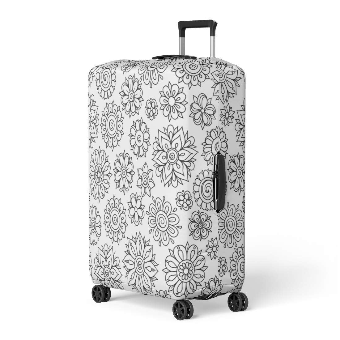 c049072918b6 Amazon.com: Pinbeam Luggage Cover Brown Color Retro Nautical World ...