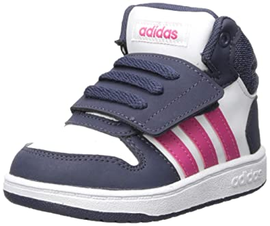 adidas Baby Hoops Mid 2.0 I Basketball Shoe White Real Magenta Trace Blue 6K 571a72cdd