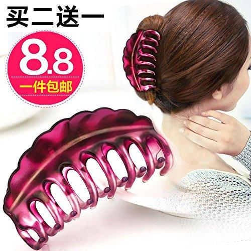 usongs Smart simple hairpin headdress gripper shatterproof large