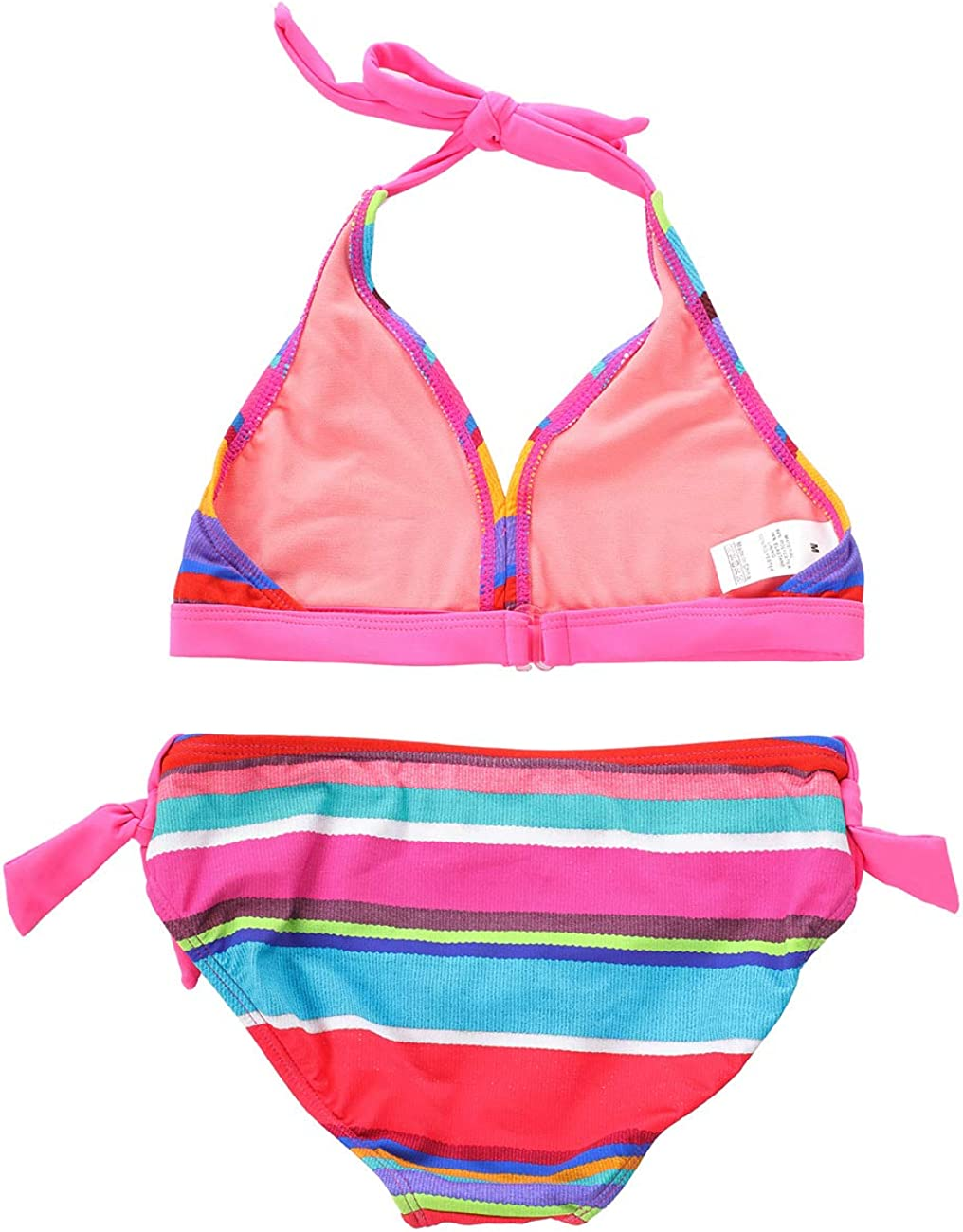 DUSISHIDAN Bikini Girls Two-Piece Tankini Set Sling Printed Holiday Swimsuits Top with Bottom Beachwear for UK Age 6-14 Years
