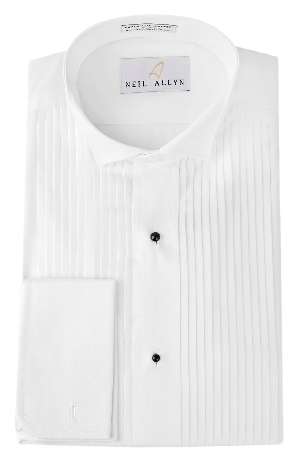 Tuxedo Shirt By Neil Allyn - 100% Cotton Wing Collar with French Cuffs (17 - 32/33) by Neil Allyn