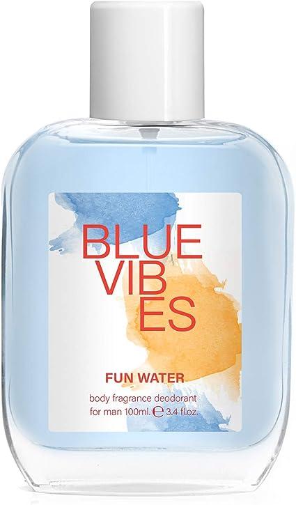 Fun Water Blue Vibes - Desodorante para hombre (100 ml, pack de 2 ...