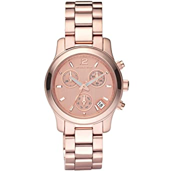 439850c3a53 Image Unavailable. Image not available for. Color  Michael Kors Women s  MK5430 Runway Rose Gold Tone Watch