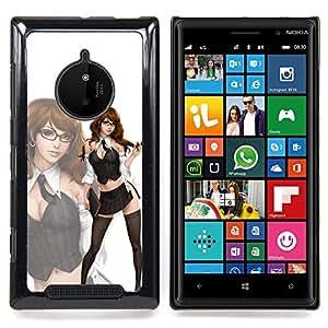 Eason Shop / Premium SLIM PC / Aliminium Casa Carcasa Funda Case Bandera Cover - Limpieza de la criada del bebé del polluelo - For Nokia Lumia 830