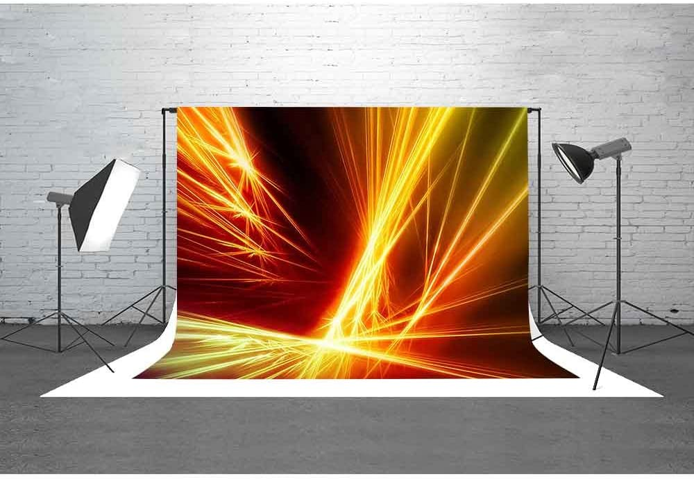 MEETS 7x5ft Abstract Photography Backdrop Neon Light Background Themed Party Photo Booth YouTube Backdrop PMT181