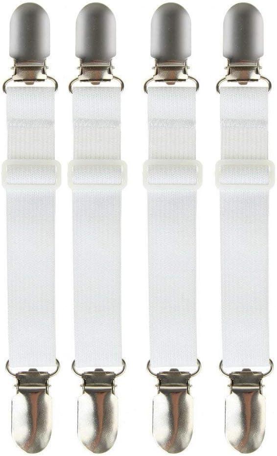 bretelles Details about  /Lot de 4 clips élastiques pour drap-matelas et drap-housse