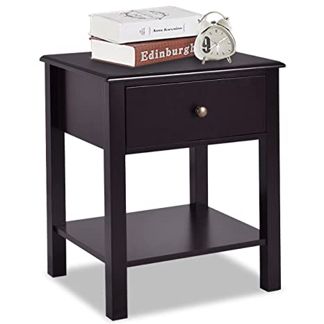 Amazon.com: Giantex mesa auxiliar mesita de noche ...