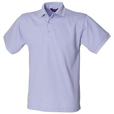 Henbury - Polo - para Hombre Azul Morado XXX-Large: Amazon.es ...