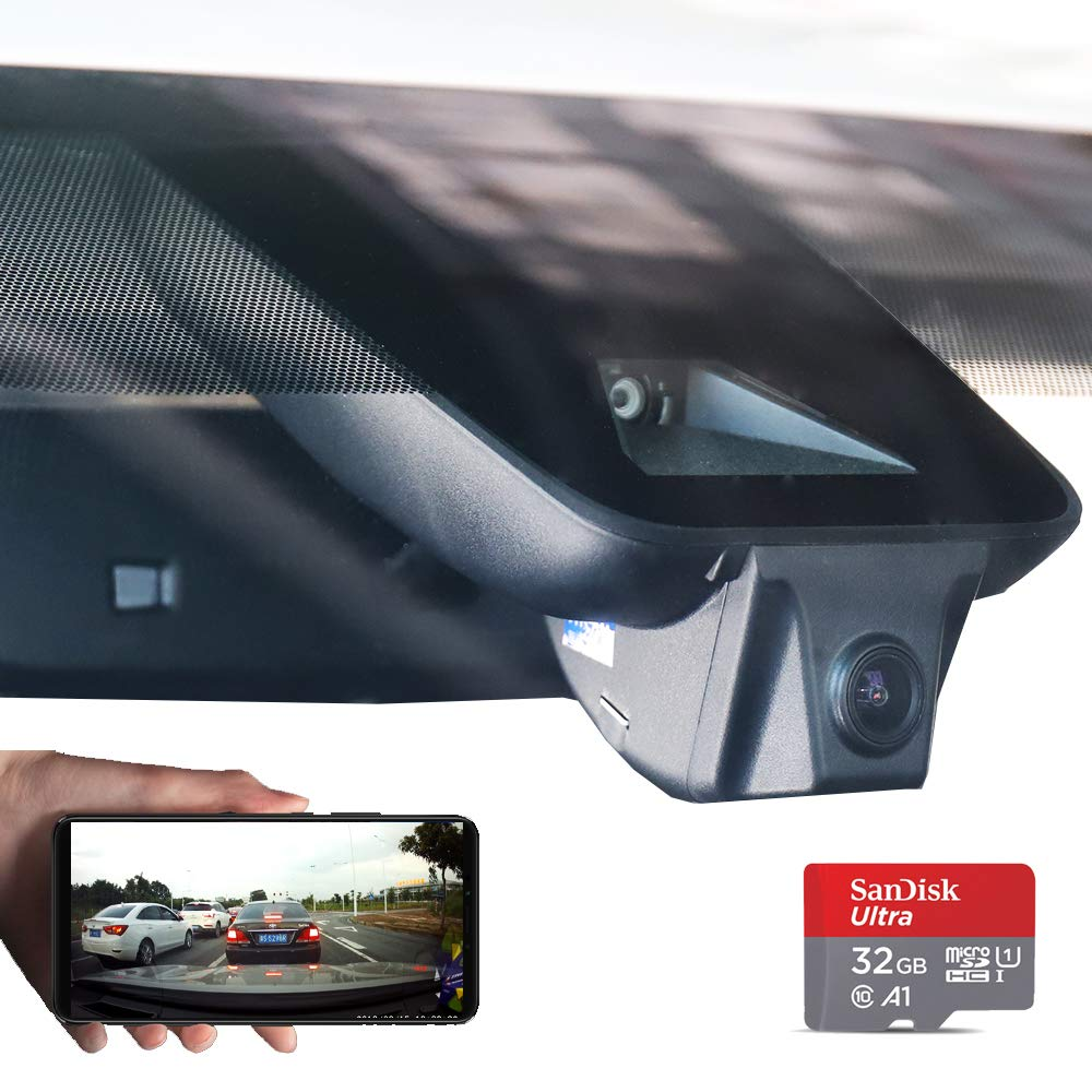 Car Dash Camera for 2018/2019 Toyota Highlander Dash cam with Sony 323 Sensor Novateck 96658 1080P FHD 170° Wide Angle Built-in WiFi G-Sensor Parking Monitor Loop Recording APP(Android, iOS)