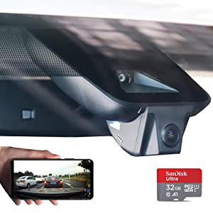 Fitcam Car Dash Camera for 2018 Lexus ES Dash cam with Sony 323 Sensor Novateck 96658 Front 1080P FHD 170 Wide-Angle Built-in WiFi Parking Monitor WDR Loop Recording Night Mode APP(Android, iOS)