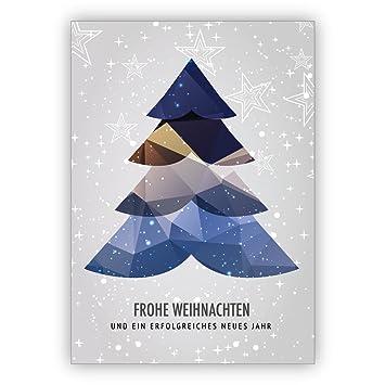 Frohe Weihnachten Und Ein Erfolgreiches Neues Jahr.Im 16er Glückwunsch Set Moderne Weihnachtskarte Mit Weihnachtsbaum