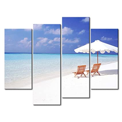 Impresión de Lienzo de Pared Arte Imagen Maldivas playa grande dos ...
