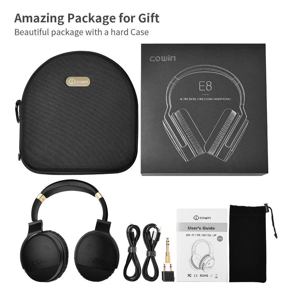 cowin E8 Bluetooth inalámbrico con micrófono y Auriculares con cancelación de Ruido (Dorado): Amazon.es: Electrónica
