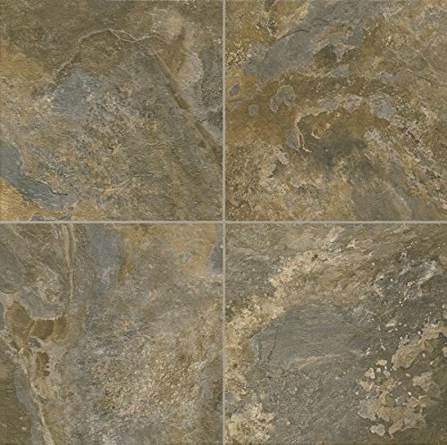 Armstrong Allegheny Slate Alterna Reserve Vinyl Tile Flooring, Italian Earth/FPD2330261