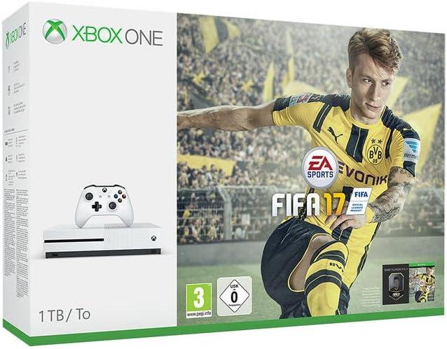 Microsoft Xbox One S, FIFA 2017 1000GB Wifi Color blanco - videoconsolas (FIFA 2017, Xbox One S, AMD Radeon, Unidad de disco duro, 1000 GB, Blu-Ray, 10,100,1000 Mbit/s): Amazon.es: Videojuegos