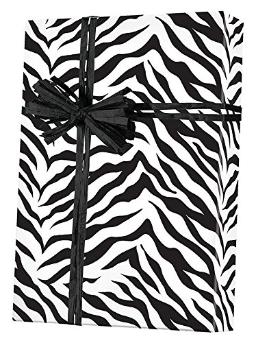 Zebra Stripes Gift Wrapping Paper Roll - 24