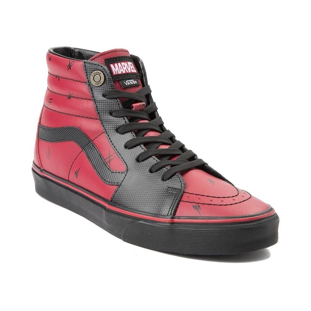 (バンズ) Vans スケートハイ アベンジャーズ靴ハイカットスニーカー Sk8 Hi Marvel Deadpool Skate Shoe [並行輸入品] B07F6PYLK5 M:8, W:9.5(メンズ26cm, レディース26.5cm)