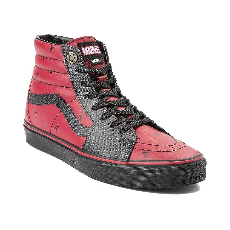 (バンズ) Vans スケートハイ アベンジャーズ靴ハイカットスニーカー Sk8 Hi Marvel Deadpool Skate Shoe [並行輸入品] B07F6XXK4K M:7, W:8.5(メンズ25cm, レディース25.5cm)