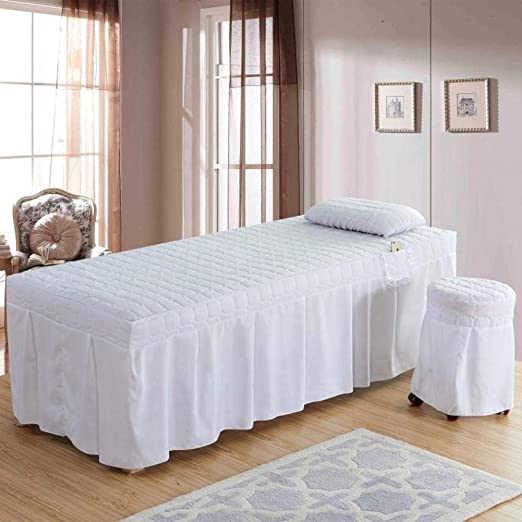 AMY Premium Juego de sábanas para Camilla de Masaje, Falda de la Tabla del Masaje SPA Cubierta de Cama Lino Cenefa Hoja Salón por Encargo-I 190x70cm(75x28inch): Amazon.es: Hogar