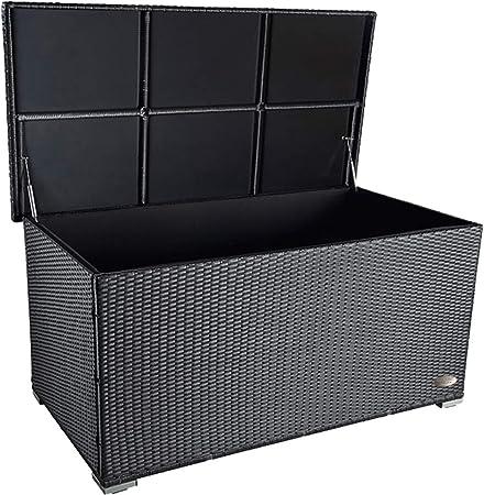 Premium Venezia 950 L Polyrattan Garten Kissenbox Wetterfest Regnet Nicht Rein 146 X 83 X 80 Cm Auflagenbox Mit Verstärktem Deckel Und