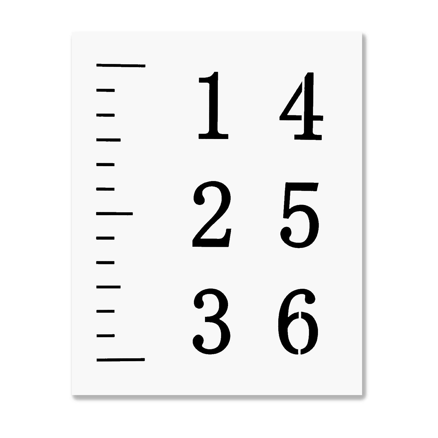 LEKUSHA Create Your Own 6 Feet Growth Chart Ruler Stencil, 12 Mil Durable Reusable Height Chart Template, Great for Painting Kids Measuring Chart, Fit for 5 Inch Wide Wood Board(Mylar Material)