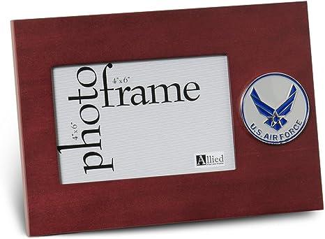 Amazon Com Allied Frame Us Air Force Wings Medallion Desktop Landscape Picture Frame 4 X 6 Inch