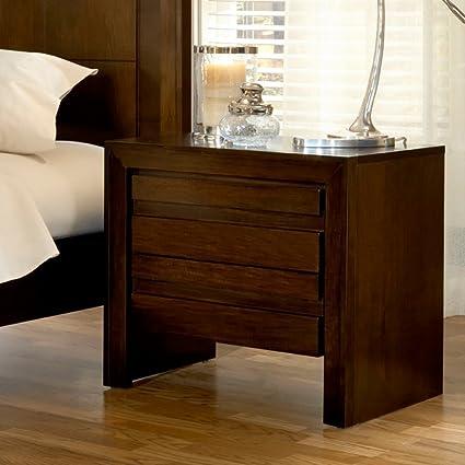 Merveilleux Modus Furniture 4G2281P Element Charging Station Nightstand, Chocolate Brown