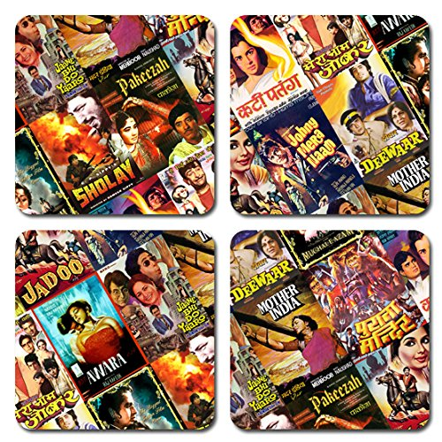 - Bollywood Coasters With Poster Prints For Hindi Movie Fans - Set Of 4