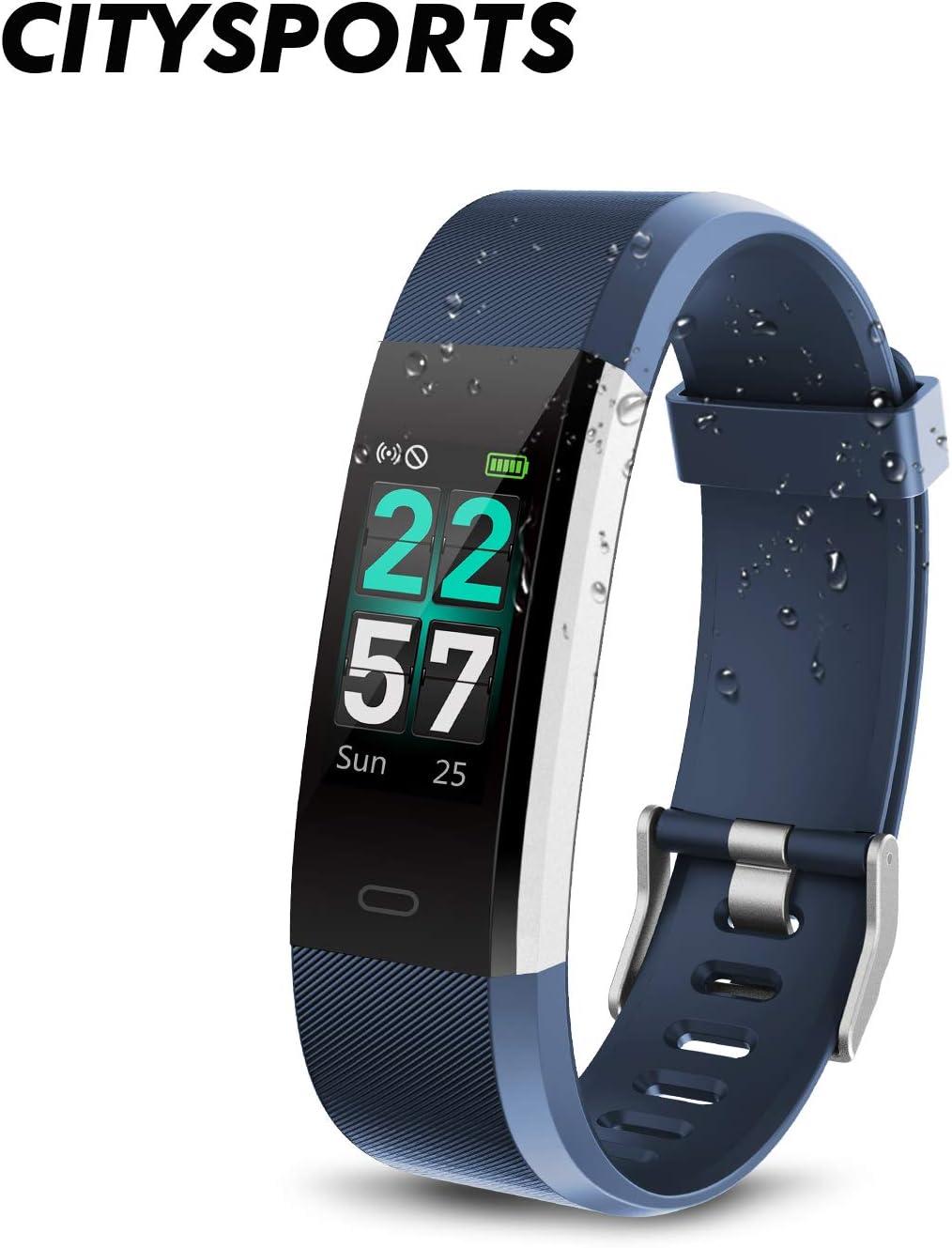 CITYSPORTS Reloj Inteligente, Smartwatch Impermeable IP68,Pulsera ...